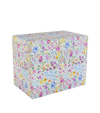 Park Lane Card Storage Box-Watercolor Floral