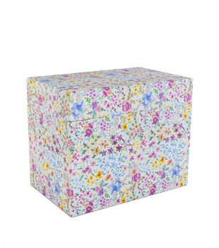 Park Lane Card Storage Box-Watercolor Floral