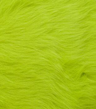 Fashion Faux Fur Fabric -Lime Green