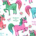 Snuggle Flannel Fabric -Believe in Magic & Unicorns