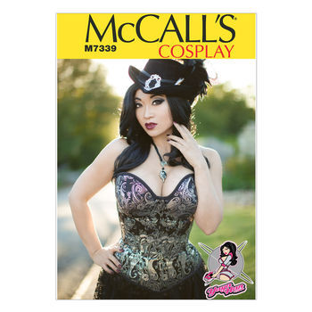 McCall's Pattern M7339-Misses' Overbust or Underbust Corsets by Yaya Han