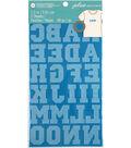 Jolee\u0027s Boutique 49 pk 1.5\u0027\u0027 Letters Iron-on Transfers-Turquoise