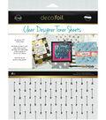 Deco Foil 4 pk 8.5\u0027\u0027x11\u0027\u0027 Clear Designer Toner Sheets-Arrows