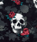 Novelty Cotton Fabric -Skull & Roses