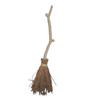 Maker's Halloween Large Rattan Broom-Natural
