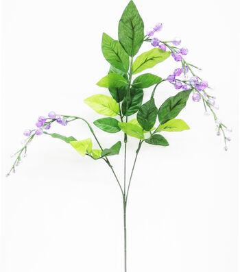 Fresh Picked Spring 28.5'' Acrylic Bead Spray-Purple