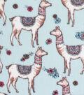 Anti-Pill Plush Fleece Fabric-Pretty Llamas Aqua