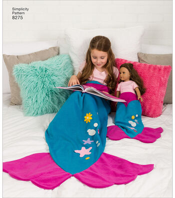 Simplicity Pattern 8275 Children's, Adults' & 18'' Doll Blankets