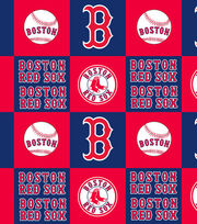 Boston Red Sox Fleece Fabric -Block, , hi-res
