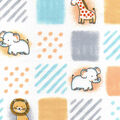 Nursery Cotton Fabric -Safari Patchwork