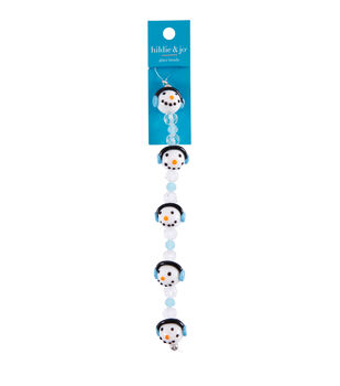 hildie & jo 7'' Christmas Snowman Head Glass Strung Beads