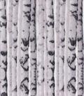 Anti-Pill Plush Fabric-Birch Trees