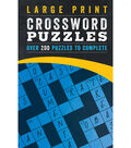 Large Print Crossword Puzzles Book-Over 200 Puzzles to Complete