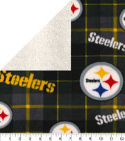 Pittsburgh Steelers Fleece Fabric-Plaid Sherpa, , hi-res