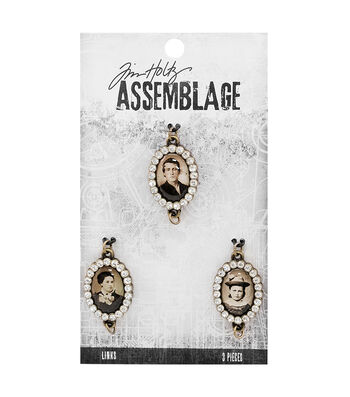 Tim Holtz Assemblage Pack of 3 Jeweled Photo Links