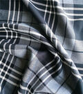 Perfectly Plaid Rayon Fabric -Black White