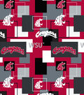 Washington State University Cougars Cotton Fabric -Modern Block