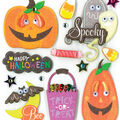 K&Company 14 pk Stickers-Spooky Halloween