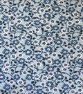 Apparel Knit Fabric-Blue Floral