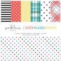 Park Lane 12\u0022x12\u0022 Paper Pad-Dots, Plaids & Stripes