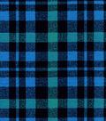 Snuggle Flannel Fabric -Alex Blue Plaid