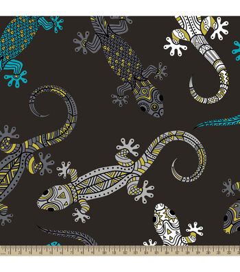 "Anti-Pill Fleece Fabric 59""-Lizards"