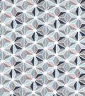 Snuggle Flannel Fabric 42\u0022-Spa Geometric