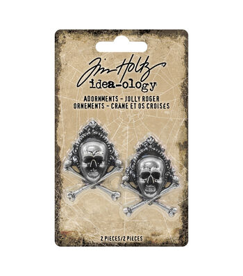 Tim Holtz Idea-ology Halloween-Adornments Jolly Roger