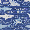 Anti-Pill Plush Fleece Fabric-Sharktastic