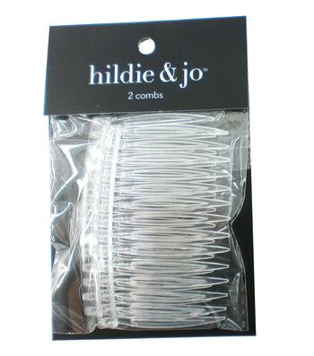 hildie & jo 2 pk Plastic Hair Combs-Clear