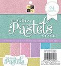 DCWV 6\u0022x6\u0022 Glitzy Pastels Stack