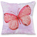 Diamond Dotz Decorative Pillow Kit-Papillon Abricot