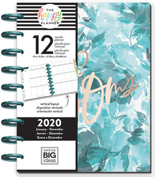 The Happy Planner Classic 2020 Dated Planner-Spring Floral