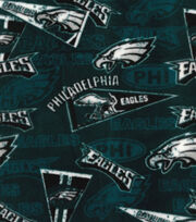 Philadelphia Eagles Fleece Fabric -Retro, , hi-res
