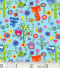 Novelty Cotton Fabric-Forest Animals