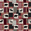 Super Snuggle Flannel Fabric-Bear Lake Patch