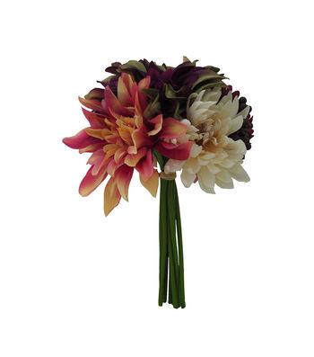 Blooming Autumn Mum, Dahlia & Berry Bouquet-Green