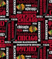 Chicago Blackhawks Cotton Fabric -Writing, , hi-res