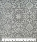Sew Lush Fabric-Gray Medallion