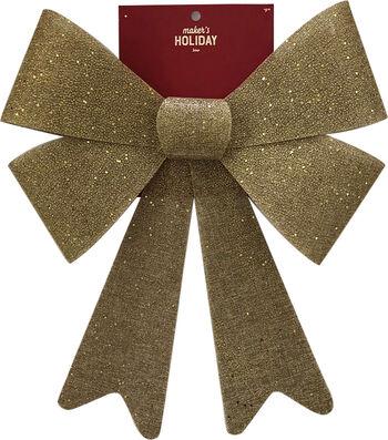Maker's Holiday Christmas 15'' Burlap PVC Glitter Bow