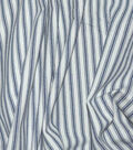 Waverly Multi-Purpose Decor Fabric 55\u0022-Classic Ticking Navy