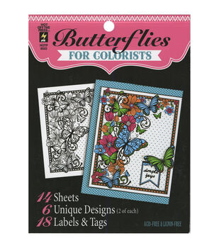 Adult Coloring Book Hot Off The Press Butterflies