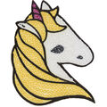 Simplicity Unicorn Iron-on Applique with Sequins-Multi