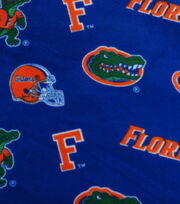 University of Florida Gators Fleece Fabric 58''-All Over Blue, , hi-res