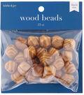 hildie & jo 25 pk Wood Beads