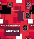 North Carolina State Wolfpack Cotton Fabric 43\u0022-New Block