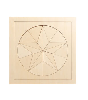 Camp Ann Crafts 12''x12'' Unfinished Wood Puzzle-Star