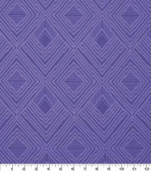 Wide Flannel Fabric-Purple Modern Diamond