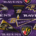 Baltimore Ravens Fleece Fabric-Retro