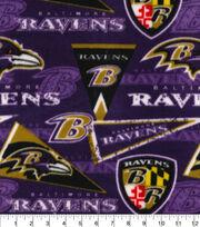 Baltimore Ravens Fleece Fabric-Retro, , hi-res